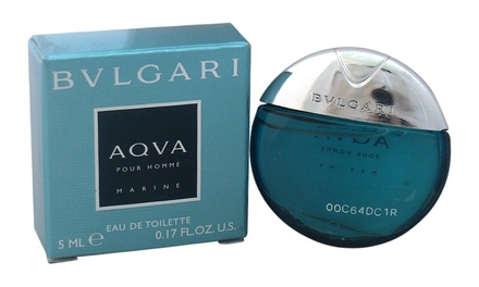Bvlgari Aqva Pour Homme Marine Eau de Toilette for Men (0.17 Fl. Oz.)