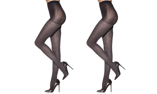 a072b5d0320cf Bra Society Women's Premium Sheer Tights (2-Pack)