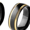 Men's Rings in Black and Gold Ion Plated Stainless Steel