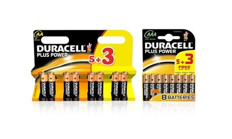 Fino a 32 batterie Duracell AA o AAA. Varie quantità disponibili