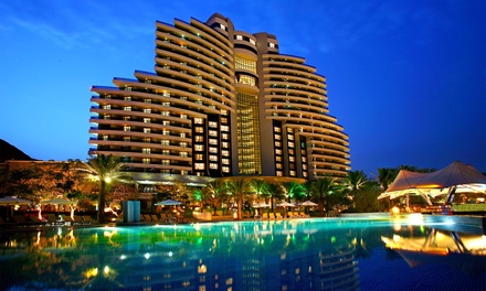Fujairah: 1, 2 or 3 Nights for Two with Breakfast; with Option for Half Board at the 5* Le Méridien Al Aqah Beach Resort