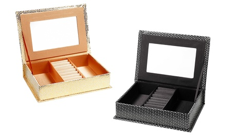 Black Diamond-Effect or Gold Snake-Effect Jewellery Box for £7.99