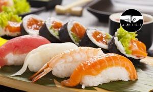 Sakura: Menu con barca sushi da 40 pezzi, edamame, zuppa di miso e vino (sconto fino a 65%)