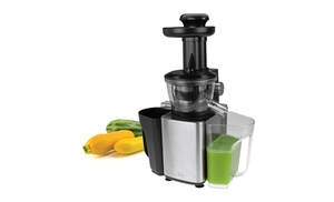 Kalorik Stainless Steel Slow Juice Extractor Reviews : Fruit and vegetable Slow Juicer Groupon Goods