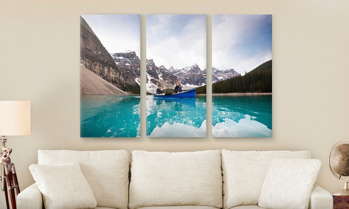 """Canvas On Demand Custom Triptych PhotoSplit Prints: Custom Triptych PhotoSplit Print from Canvas On Demand; 36""""x24"""" or 45""""x30 Sizes Available from $59.99–$79.99"""