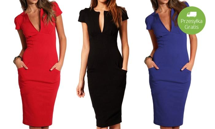 9adc55fda5 Elegancka sukienka  3 kolory