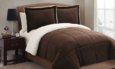 Micro-Mink Sherpa Comforter Set. Multiple Options from $39.99–$54.99.