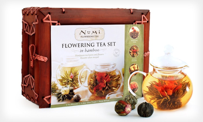 Numi Organic Tea Flowering Gift Set: $20.99 for a Numi Organic Tea Flowering Gift Set in a Bamboo Case ($39.99 List Price). Free Shipping.