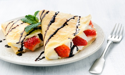 Crepes and Coffee or Tea at Crepes & Delices (Up to 50% Off). Three Options Available.