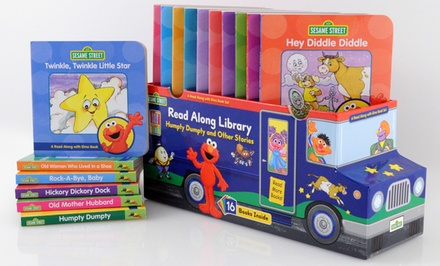 Sesame Street Read-Along 16-Book Bus Library