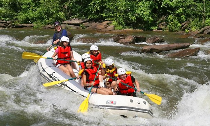 Sunburst Adventures - Benton: Whitewater Rafting on the Ocoee River from Sunburst Adventures (Up to 61% Off). Three Options Available.