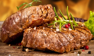 STEAK HOUSE: Menu di carne con 1 kg di grigliata mista, angus e vino da Steak House (sconto fino a 70%)