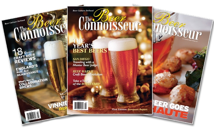 """The Beer Connoisseur Magazine: 2-Year Subscription or 20-Year Lifetime Subscription to """"The Beer Connoisseur"""" Magazine (Up to 54% Off)"""
