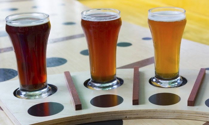 Falling Down Beer Company - Southwest Warren: Beer Flights for Two or Beer and Pub Food for Lunch or Dinner at Falling Down Beer Company (Up to 50% Off)