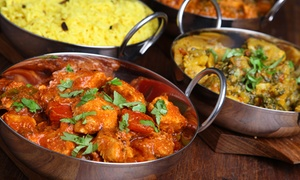 Akbar's Lounge: Three-Course Indian Meal with Sides for Two or Four at Akbar's Lounge (Up to 42% Off)