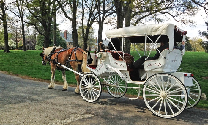 Camel City Carriage - At Old 4th St. Filling Station Restaurant: $40 for a Double Date Horse-Drawn Carriage Ride Package from Camel City Carriage Company ($80 Value)