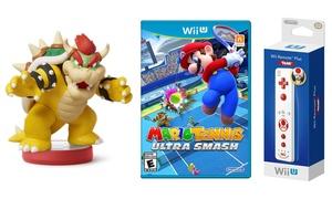 Wii U Mario Tennis, amiibo Bowser, and Wii Toad Controller Bundle