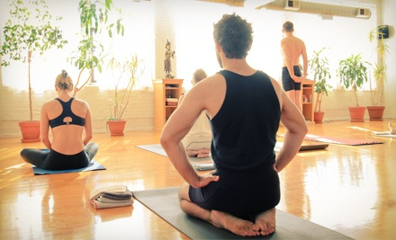 5 or 10 Yoga Classes or One Month of Unlimited Classes at Moksha Yoga Center (Up to 64% Off)