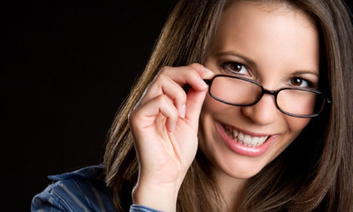 Pearle Vision - Multiple Locations: Eyeglasses, Frames, or a Six-Month Supply of Contact Lenses at Pearle Vision (Up to 78% Off). Three Options Available.