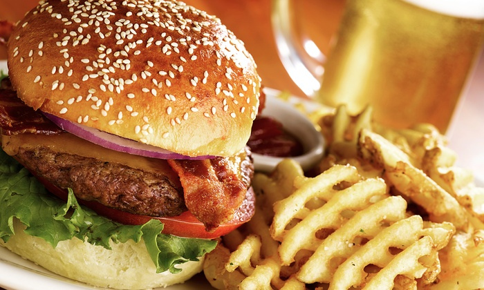 The Pound! Bar & Grill - Brighton: Burgers, Pizza, and Pub Food at The Pound! Bar & Grill (Up to 49% Off). Four Options Available.