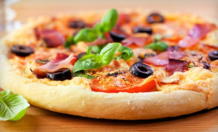 $18.99 for a Pizza Meal for Four with Salad or Garlic Knots and Drinks at Villa Pizza (Up to $38.34 Value)