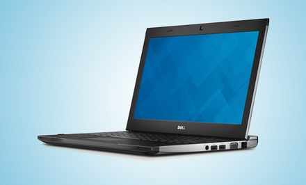 "groupon daily deal - Dell Latitude 13.3"" Laptop with 1.6GHz Processor, 4GB RAM, and 320GB HDD (Manufacturer Refurbished). Free Returns."