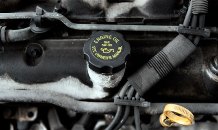 AC Service and Oil Change or Front or Rear Brake Service at AAMCO (Up to 64% Off)