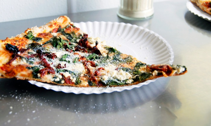"""Sliced Right Personal Pizza - Westlake: 18"""" Pizza with Two Salads or Eight Custom Pizza Slices at Sliced Right Personal Pizza"""