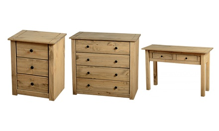 Panama waxed pine bedroom furniture for for Bedroom furniture deals