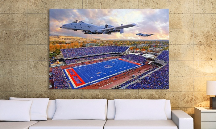 """Imagekind: $74.99 for a 40""""x26"""" Gallery-Wrapped College-Stadium Canvas Print from Imagekind ($215 Value)"""