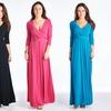 Women's Classic Maxi Wrap Dress