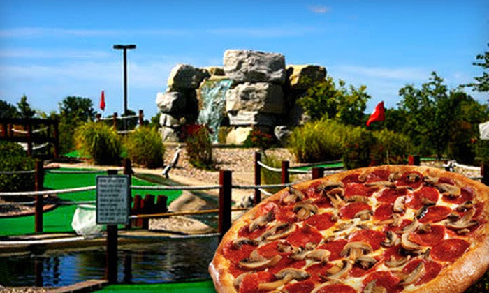 Ben and Ari's - Fishers: $20 for Mini Golf, Arcade Games, and Pizza at Ben and Ari's (Up to $40.74)
