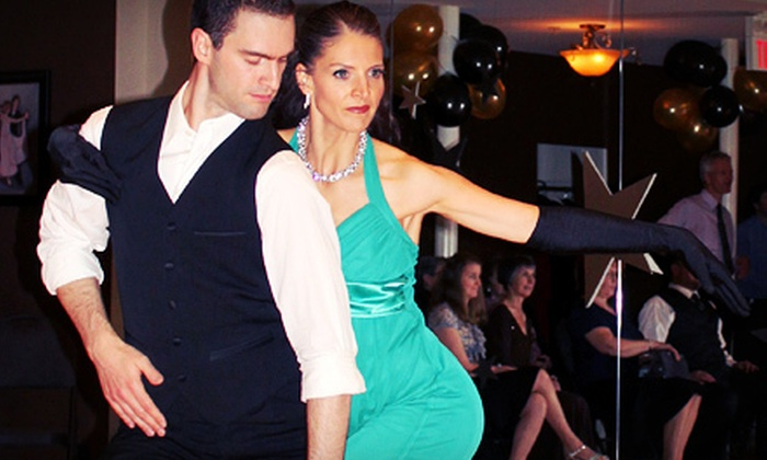 Dancing for Dessert - Northwest Langley: Four or Eight Weeks of Group Ballroom and Latin Dance Classes for Two at Dancing for Dessert (Up to 66% Off)