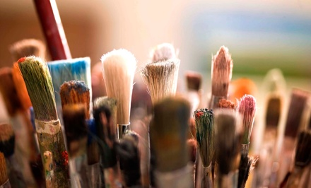 BYOB Painting Class for 2, 4, or 10 at Quench Your Palette (Up to 54% Off)