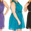 Just One Plus-Sized Sleeveless Lace Shirt Dress