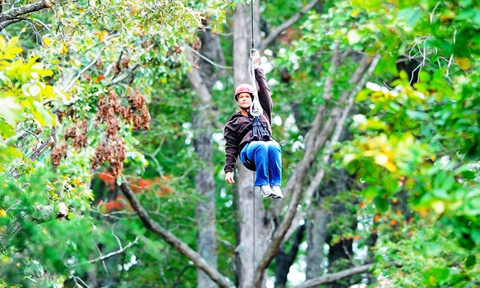 Mammoth Cave Adventures - Cave City: $63 for a Zipline Canopy Tour for Two at Mammoth Cave Adventures ($126 Value)