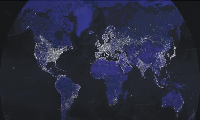Carte Du Monde Jour Nuit.Carte Du Monde Jour Et Nuit Groupon