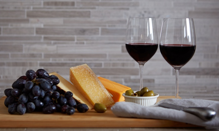 Gone West Cellars - San Buenaventura (Ventura): Wine Flight with Cheese and Hummus Plate, and Glass of Wine for Two or Four at Gone West Cellars (51% Off)