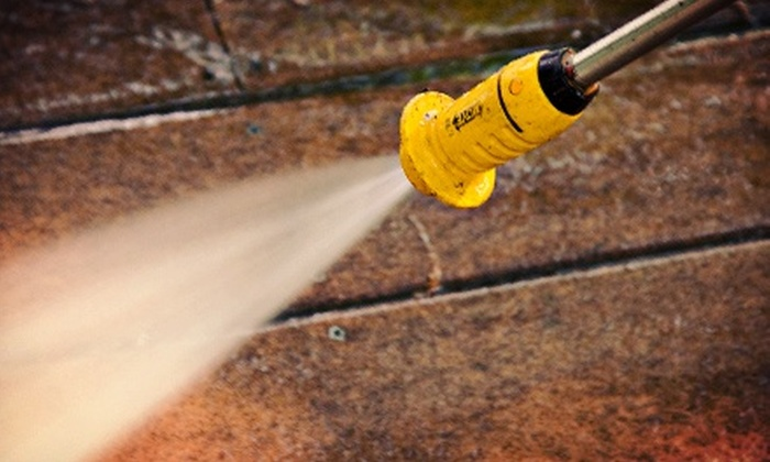 A-1 Quick Clean - Grand Rapids: Power Washing on a House with Options for Power Washing of a Sidewalk and Driveway from A-1 Quick Clean (Up to 62% Off)