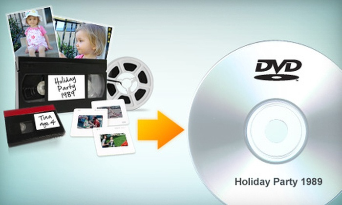 YesVideo: Home-Video Conversion to DVD from YesVideo (Up to 65% Off). Two Options Available.