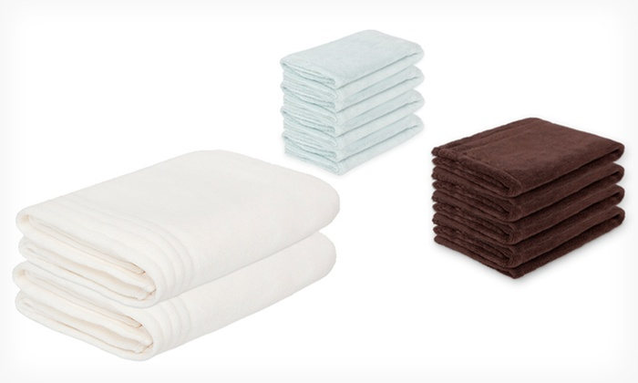 Two, Three, Or Four Piece Microfiber Performance Bath Towel Sets: Tenelux  Microfiber Performance ...