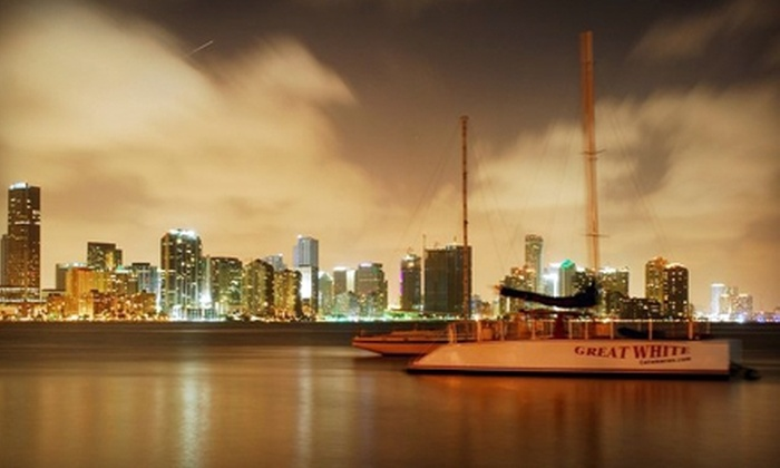 Playtime Watersports - Miami: $35 for a 2.5-Hour Sunset or Twilight Cruise with Snacks and Drinks from Playtime Watersports ($75 Value)