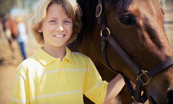 Serenity Stables & Events Facility - Caldwell: Horseback Ride for Two or a 1- or 2-Hour Birthday-Party Package at Serenity Stables & Events Facility (Up to 55% Off)