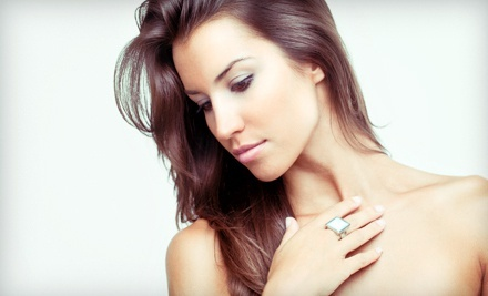 Haircut Package with Conditioning Treatment and Option for Highlights of One Color at Bella Rio Salon (Up to 61% Off)