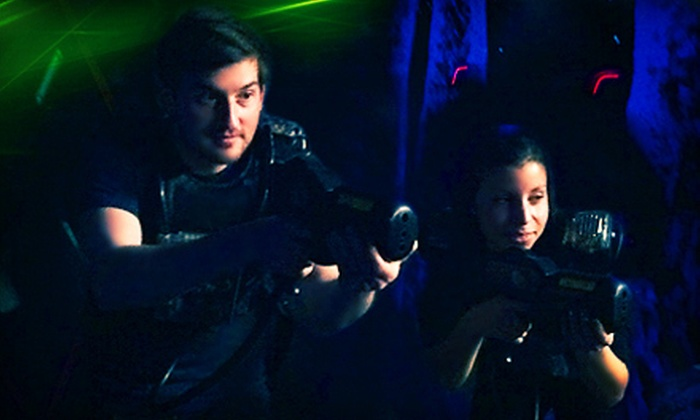GloZone - North Charleston: Two or Four Games of Laser Tag or One-Year Membership to GloZone (Up to 64% Off)