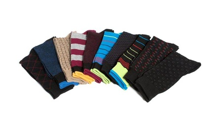 10-Pair Beverly Hills Polo Club Men's Dress Socks