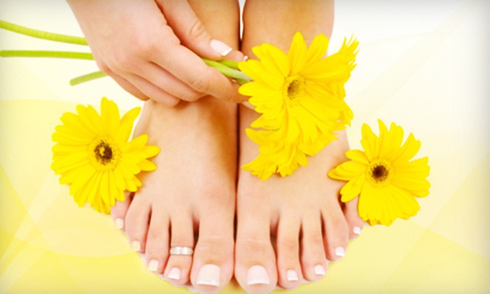 Americana Nail Co. - Livingston - McNaughten: Scented Mani-Pedi with a Tropical Drink and Optional Summer Facial at Americana Nail Co. (Up to 57% Off)