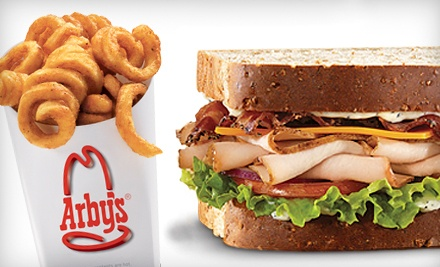 One or Three Groupons, Each Good for $10 Worth of Sandwiches, Curly Fries, and Drinks at Arby's (Half Off)