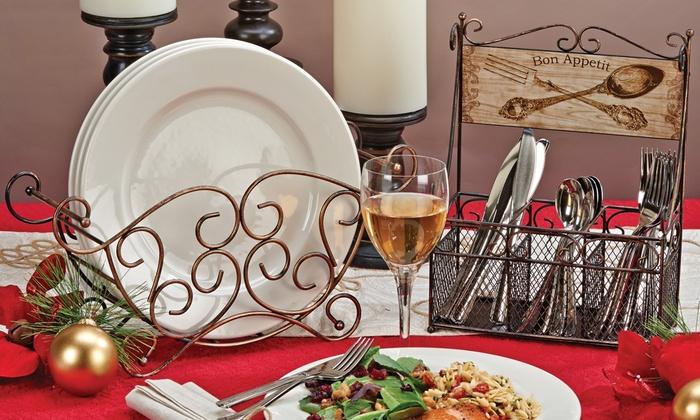 Decorative Metal Buffet Caddies   Groupon Goods