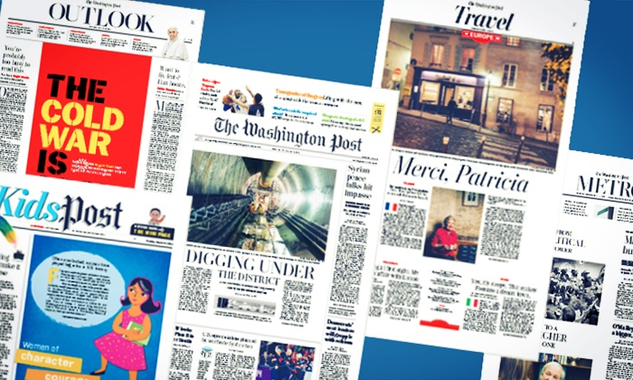 The Washington Post - Washington DC: $19.99 for 52 Weeks of The Washington Post Sunday Home-Delivery with Free Digital Access ($96 Value)